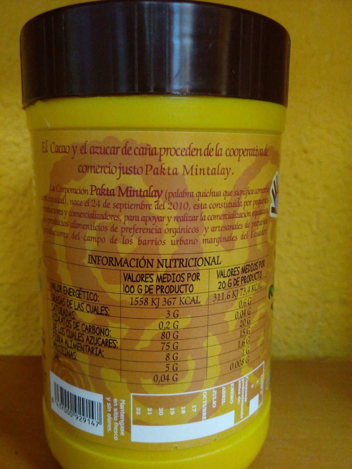 cacao soluble de comercio justo