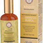 Este aceite en el cabello Khadi contiene aceite de sésamo y por lo tanto es muy adecuado para mantener el cuero cabelludo sano y fresco. El aceite de sésamo es un aceite Ayurvédico esencial, que favorece la circulación sanguínea, la desintoxicación y apoya a muchos procesos metabólicos.