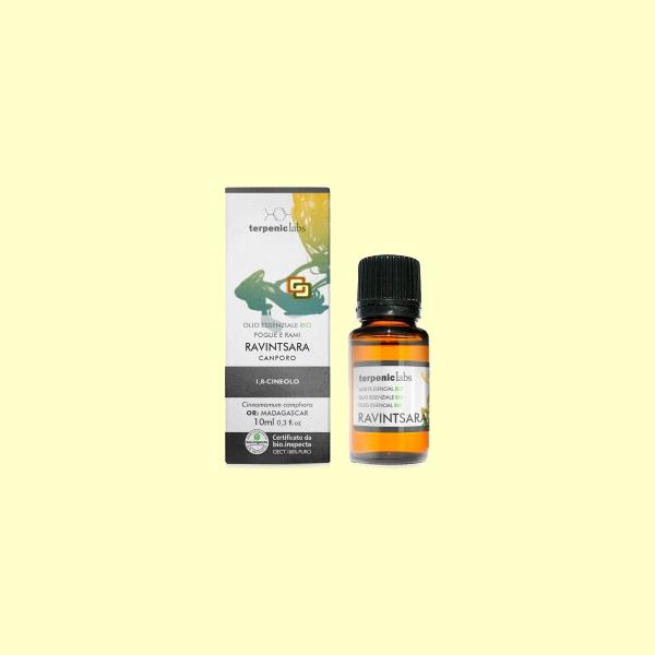 Aceite esencial con propiedades inmunoestimulantes, espasmolíticas, antivíricas, antimicrobianas, expectorantes y anti-inflamatorias.