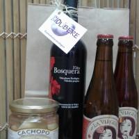 Cesta regalo con productos ecologicos y artesanos de la Comunidad de Madri. Biolibere.