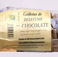 galletas deayuno con chocolate